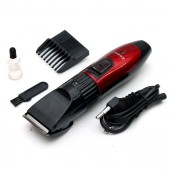 http://www.arapshop.com/KM-730 Kemei Rechargeable Hair Clipper Trimmer For Men - Black & Red